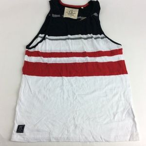 New PX Clothing Mens Striped Tank Top